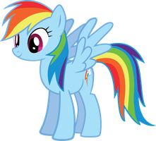 Rainbow Dash Vector: Standing by DILeak