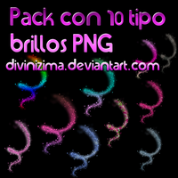 pack con 10 tipos brillos png by divinizima