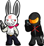 The Rabbit and Hitman by Vilenro
