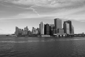 new york, financal skyline by inkoginko