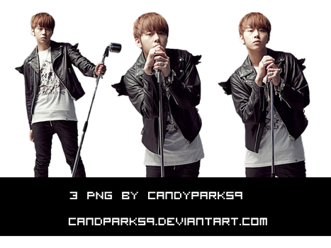 3 PNG JUNHYUNG BY CANDYPARK59 by CandyPark59