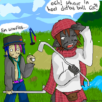 A peaceful round of golf by Natomi