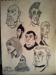 face sketches 3 : VERY late night edition by Mocrasar