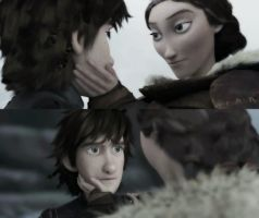 Hiccup and Valka by Angeli98ca