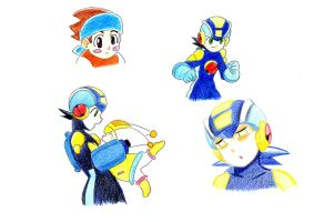random megaman colored pics by ick25