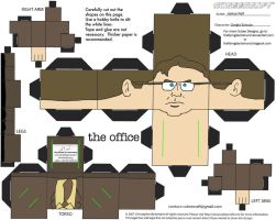 Office: Dwight Schrute Cubee by TheFlyingDachshund