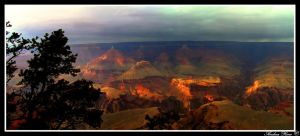 Storm  above Grand Canyon by andreareno