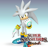 SSBB New Comer:  Silver The hedgehog by Redchampiontrainer01