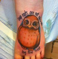 owl tattoo by dickmagnet