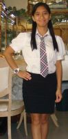 Me in my business office outfit without my vest by Magic-Kristina-KW