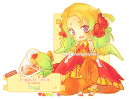 :NEMU: Tropical Punch Lovebird [CLOSED] by Chuuchichu