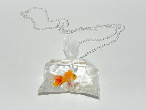Going to My Forever Home, Goldfish Necklace by Secretvixen