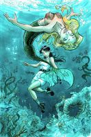 Mermaid and friend marker by cehnot