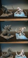 Polystone Kiryu vs Godzilla Toy Stock by Legrandzilla