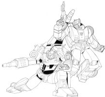 Transformers Autobot Brothers by Mono-Phos
