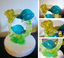 Blown Sugar Fish Sculpture by Keep-It-Sweet