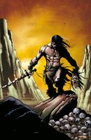 Conan color pin-up red variant by MaxMariachi
