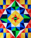 Geometric Acrylics by ThereseDrawings