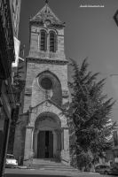 Church and Tree by Aneede