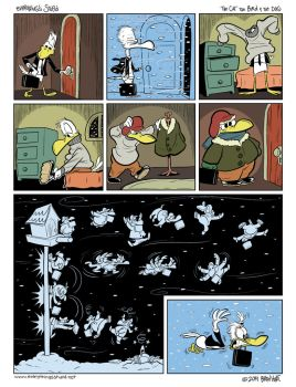 Everything's Stupid comic - Winter Commute by brien-likes-cartoons