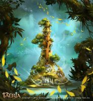 Faeria-Overgrown Tower by ChangYuanJou