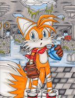 Tails With Emerald Water Ruins by DragonQuestHero