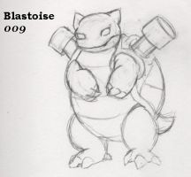 009-Blastoise by Giggles-the-Panda
