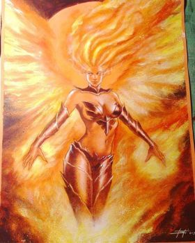 Dark Phoenix commission by LucaStrati