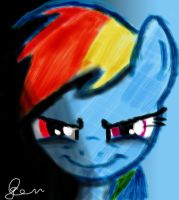 Rainbow Dash Art - RD's Dark Side by TheLegendHimself