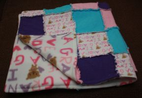 I love grandma Rag quilt with fleece backing by PrimmRose
