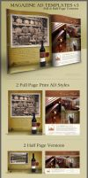 Print Ad Template Layouts 3 by CursiveQ-Designs