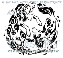 Air And Earth Yin Yang Wolf Design by WildSpiritWolf