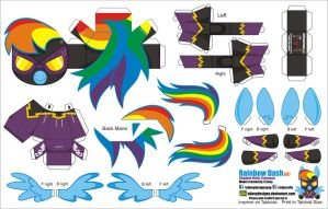 Rainbow Dash Shadow Bolts costume (Joinys 2.0) by ELJOEYDESIGNS