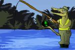 Baryonyx fishing technique by Szymoonio