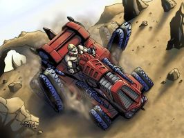 He-man, rides attacktrak by shawnmp