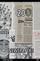 fa 0447 NEWSPAPER TEXTURES by fanaticartsstock