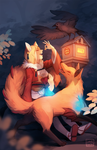 fef: the kitsune and the crow by Sangcoon