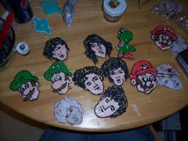 Jonas brothers Vs Mario Cookie by mladymandi