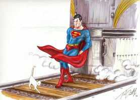 Superman Saves the Day by tdastick