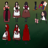 Red Riding Hood character sheet by kimitama