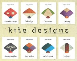 Kite Designs - Happy Dashain by lalitkala