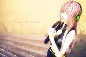 MMD Megurine Luka wallpaper by xinshin