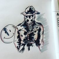 Rorschach doodle    by jenisnotcool