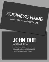Clean Corporate Business Card by OutlawRave