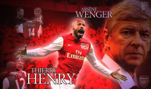 Thierry Henry and Arsene Wenger Arsenal Wallpaper by TheSayGi