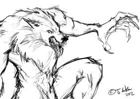 werewolf sketch by dypsomaniart