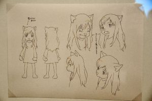 Wolf Children animestyle 05 by trendylina1994