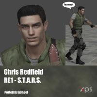 Chris Redfield RE1 S.T.A.R.S. Uniform by Adngel