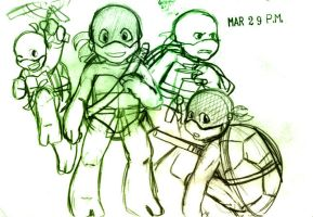 Young Turtles- sketch by StillJade