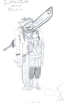 zabuza and haku by akagekkou